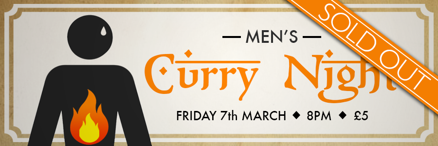 Curry Night Banner Sold Out